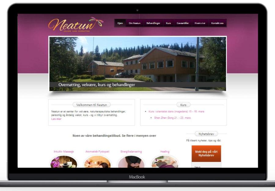 Forstørret bilde av Hjemmesiden til Neatun velværesenter