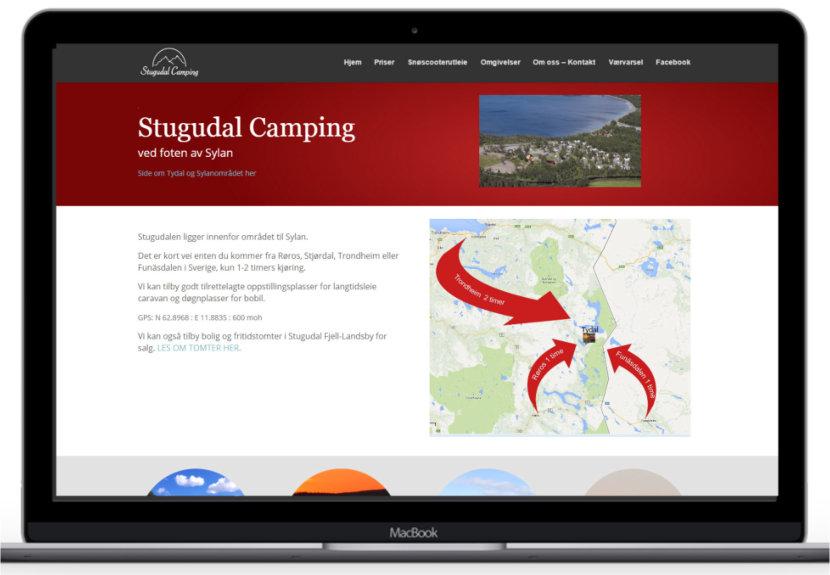 Forstørret bilde av Hjemmesiden til Stugudal Camping