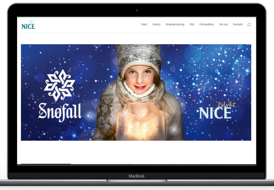Forstørret bilde av Hjemmesiden til Norwegian ICE design