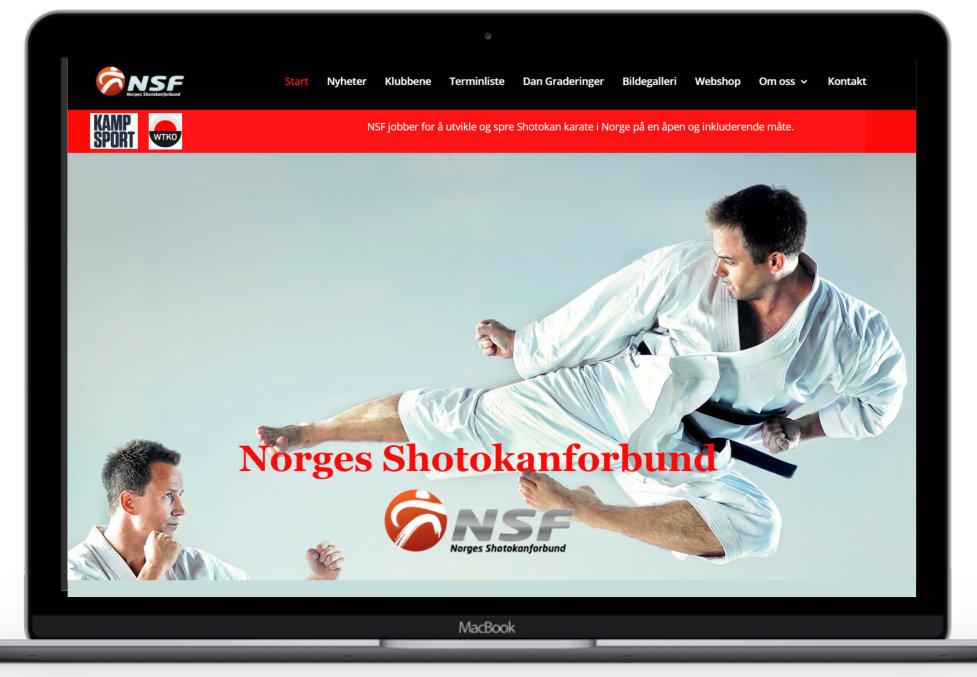 Forstørret bilde av Hjemmesiden til Norges Shotokanforbund