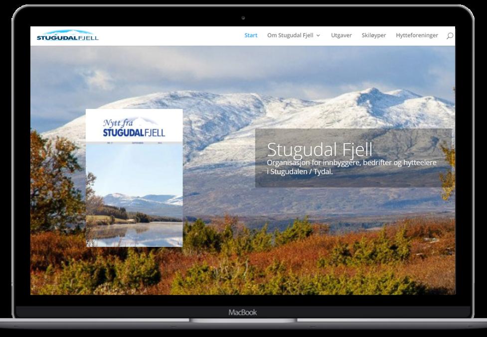 Forstørret bilde av Hjemmesiden til Stugudal Fjell