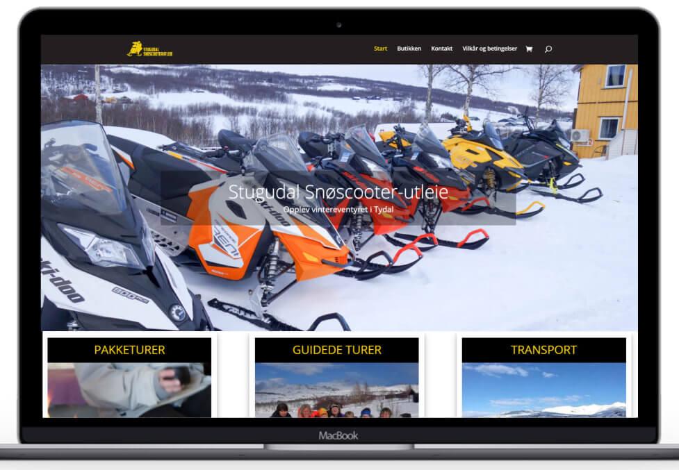 Forstørret bilde av Hjemmesiden til Stugudal snøscooterutleie